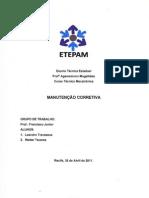 RELATÓRIO MANUTENÇÃO CORRETIVA026