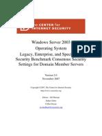 CIS_Win2003_MS_Benchmark_v2.0