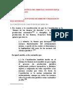 Analisis de La Sentecia Del Tribunal Constitucional Fuentes Del Derecho Cubas