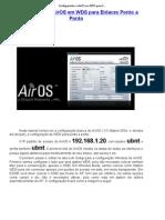 Configurando o AirOS Em WDS Para Enlaces Ponto a Ponto