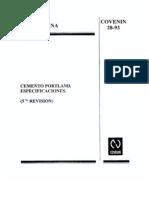 28 93 Cemento Portland Especificaciones