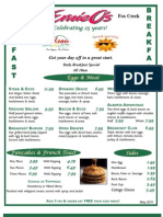 2011 Edson - Breakfast Menu