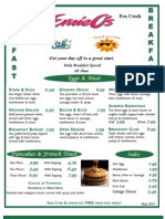 2011 Fox Creek - Breakfast Menu