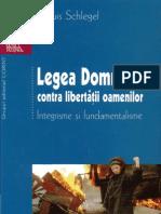 Legea Domnului Contra Libertatii Oamenilor - Schlegel
