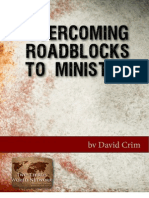 Overcoming Roadblocks to Ministry