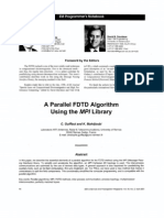 A Parallel FDTD Algorithm Using the MPI L