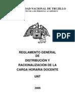 REGLAMENTO GENERAL DE DISTRIBUCIÓN Y RACIONALIZACIÓN DE LA CARGA HORARIA DOCENTE