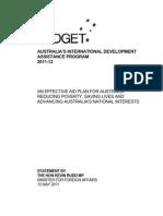 Min Statement - International Development Assistance