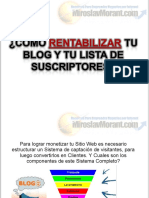 Como Rentabilizar Tu Blog