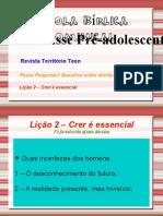 TERRITORIO TEEN Crer e Essencial Licao2
