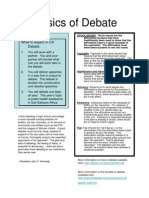 Introduction to Debate, Handout