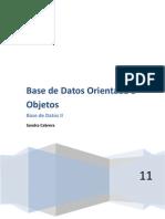 Base de Datos Orientada a Objetos-Scabrera