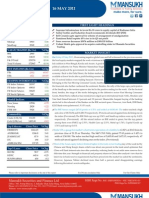 MARKET OUTLOOK FOR 16 May - CAUTIOUSLY OPTIMISTIC