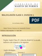 MALOCLUSIÓN CLASE II, DIVISION I