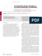 Applying Lean/Toyota Production System Principles to Improve Phlebotomy Patient Satisfaction and Workflow