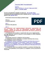 Codul Muncii Cu Modificarile Din Legea 40-2011