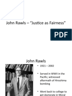 John Rawls – Justice as Fairness