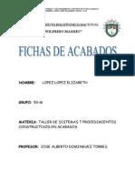 FICHAS DE ACABADOS