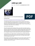 Climate Models Go Cold - Evans