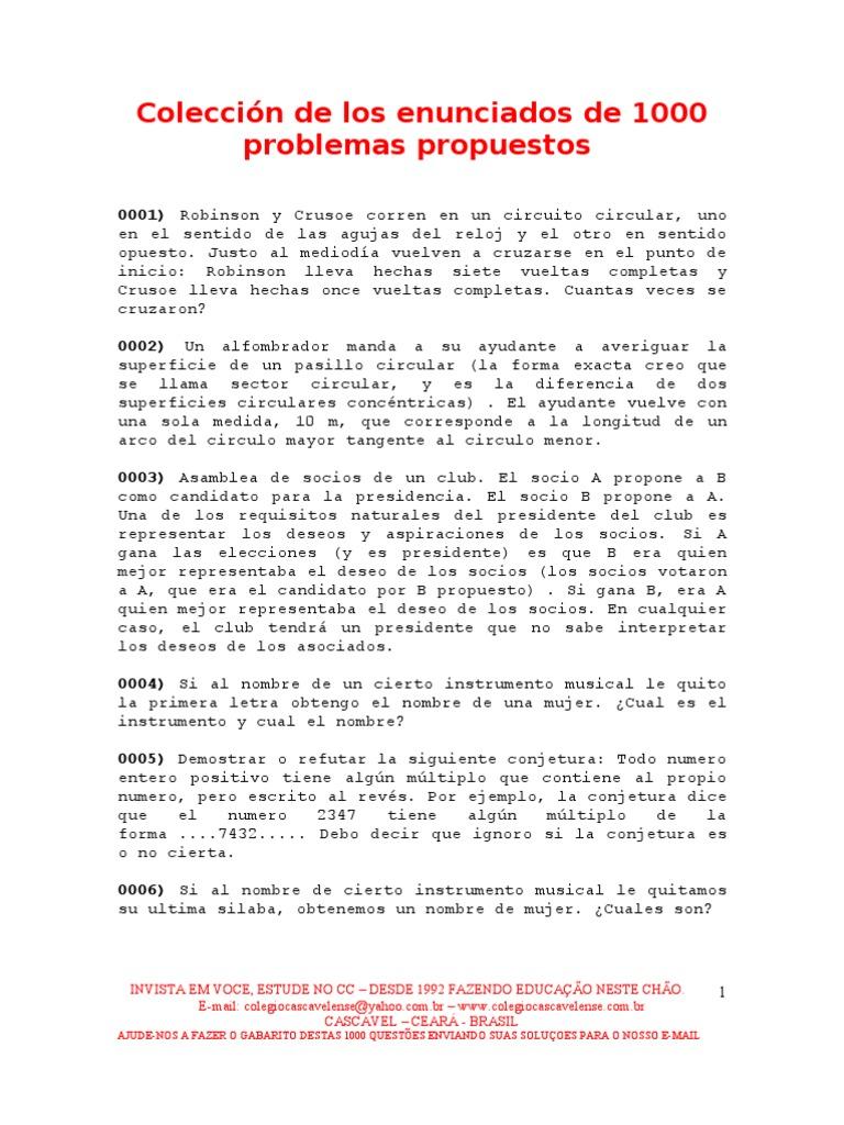1000 problemas propuestos