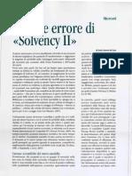 "Jesús Huerta de Soto, «Il fatale errore di ""Solvency II""»"