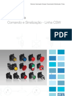 WEG Comando e Sinalizacao Linhas Csw 50009820 Catalogo Portugues Br