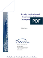 Security Implications of Hardware vs. Software Cryptographic Modules