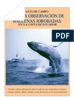 Guía de campo para la observación de ballenas jorobadas