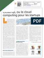 01052011 - Le Journal des Télécoms - Cloud-up, ou le cloud computing pour les startups