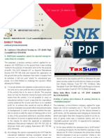 SNK Newsletter- March 2011