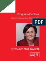 PROGRAMA ELECTORAL PSC-PSOE 2011