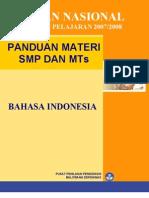 Panduan Ujian 2008 SMP MTs Bahasa Indonesia