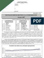 Indices des prix à la consommation - Janvier 2007 (INSTAT - 2007)