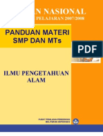 Panduan Ujian 2008 SMP MTs IPA