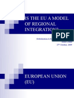 Presentation - Is EU a Model of Regional Integration