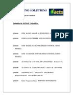 ACTS Electronics Mini Proj List