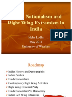 Presentation - Hindu Nationalism and Right Wing Extremism in India