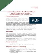 Calendario Académico Murcia 10-11
