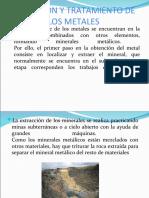 OBTENCIÓN Y TRATAMIENTO DE LOS METALES
