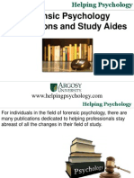 Forensic Psychology Publications and Study Aides