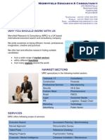 Merryfield Research & Consulting Brochure