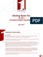 Sterling Bank Q1 2011 IR Presentation