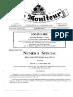 Règlements Intérieurs du Sénat - Haiti