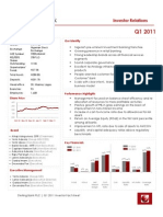 Sterling Bank Q1 2011 Investor Factsheet