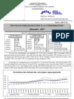 Indices des prix à la consommation - Décembre 2007 (INSTAT - 2007)