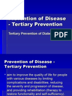 tertiary prevention of disease - diabetes