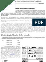 GUÍA TEÓRICO PRÁCTICA Nº4        TEMA SISTEMATICA Y TAXONOMIA