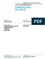 STRATEGIC COMMUNICATION LABORATORIES LIMITED  | Company accounts from Level Business