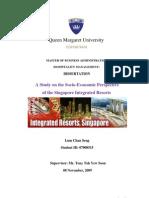 Dissertation Socio Economic Resort of Singapore