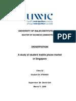 Dissertation Student Mobile Phone Market Singapore